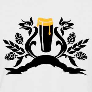 White/black floral: Glas Bier / glass of beer (2c) Men's T-Shirts - Men's Baseball T-Shirt