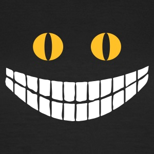 Svart Alice in Wonderland: Cheshire cat (2c) T-shirts - T-shirt dam