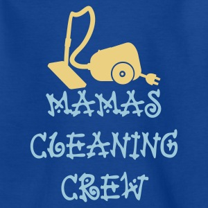 Bleu royal Mamas cleaning crew (2c) T-shirts Enfants - T-shirt Ado