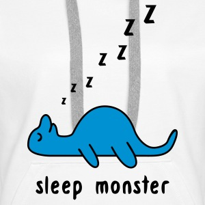 White Sleep Monster Hoodies & Sweatshirts - Women's Premium Hoodie