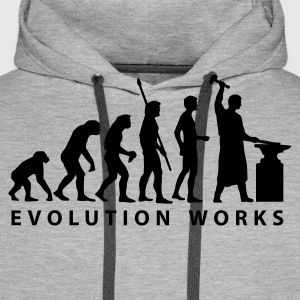 evolution_schmied Hoodies & Sweatshirts - Men's Premium Hoodie