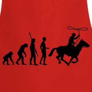 evolution_cowboy  Aprons - Cooking Apron