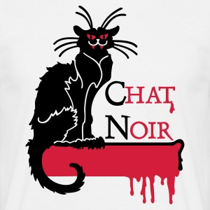 White chat noir vampire (2c) Men's T-Shirts - Men's T-Shirt