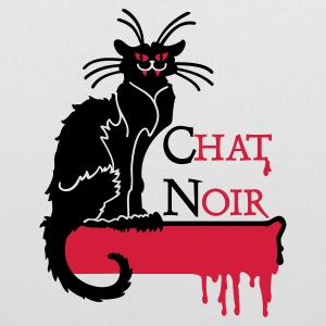 White chat noir vampire (2c) Bags  - Tote Bag