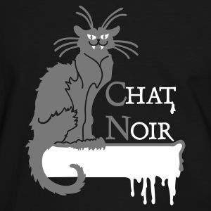 Black/white chat noir vampire (2c) Men's T-Shirts - Men's Ringer Shirt