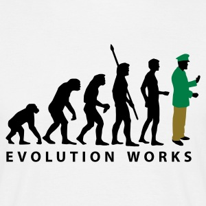 evolution_polizist_b_3c T-shirts - Herre-T-shirt