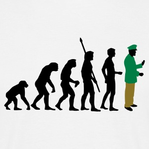 evolution_polizist_3c T-shirts - Herre-T-shirt