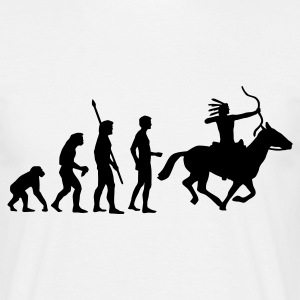 evolution_indianer Tee shirts - T-shirt Homme