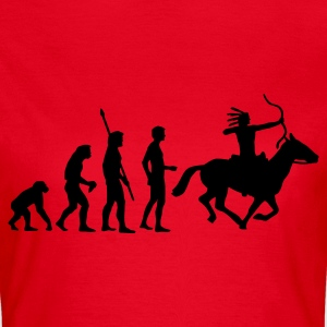 Rot evolution_indianer T-Shirts - Frauen T-Shirt