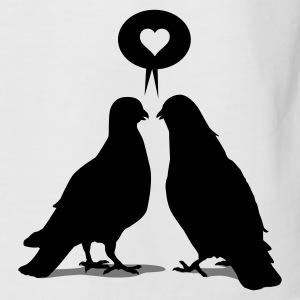 Love saying Doves - Two Birds_2c T-Shirts - Männer Baseball-T-Shirt