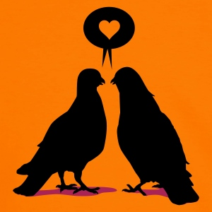 Orange/black love saying doves T-Shirts - Men's Ringer Shirt