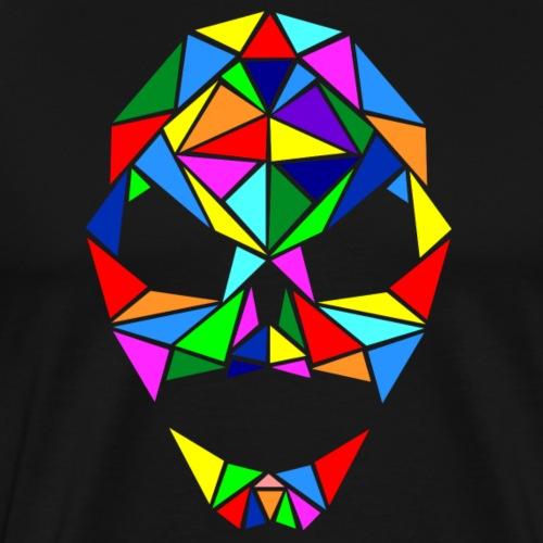 farbiger Totenschädel Mosaik