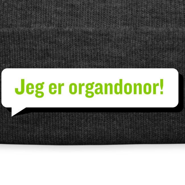 "Lue ""Jeg er organdonor"""