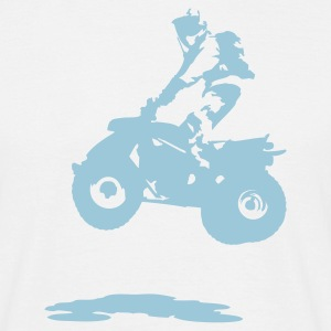 White quad bike Men's T-Shirts - Men's T-Shirt