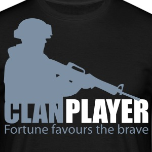 Black clanplayer_s2 Men's T-Shirts - Men's T-Shirt