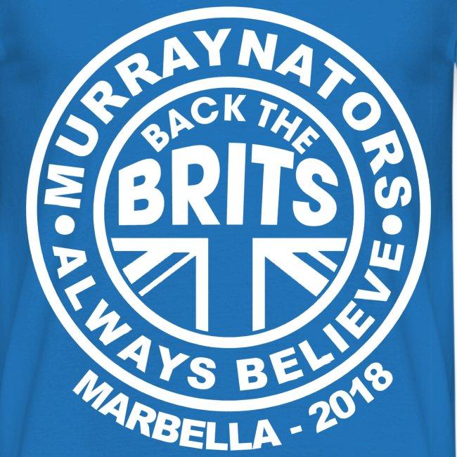 Davis Cup Marbella 2018 - Murraynators Mens T Shirt - Blue