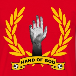 Rouge Hand of God T-shirts - T-shirt Homme