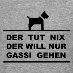 Hund will Gassi gehen.