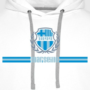 Marseille embleme Sweat-shirts - Sweat-shirt à capuche Premium pour hommes