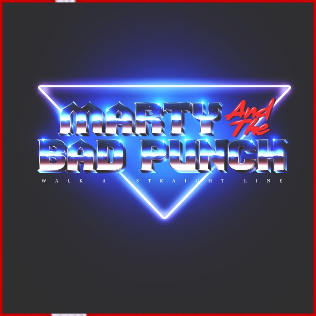 Marty And The Bad Punch Hoodie - 80s Retro Design Logo by Federico Iapichino