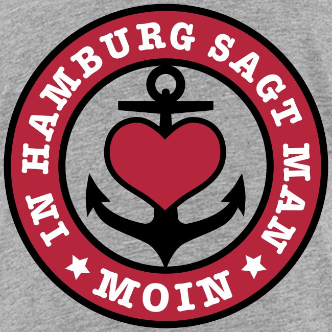 In Hamburg sagt man MOIN Anker Maritim T-Shirt Kinder