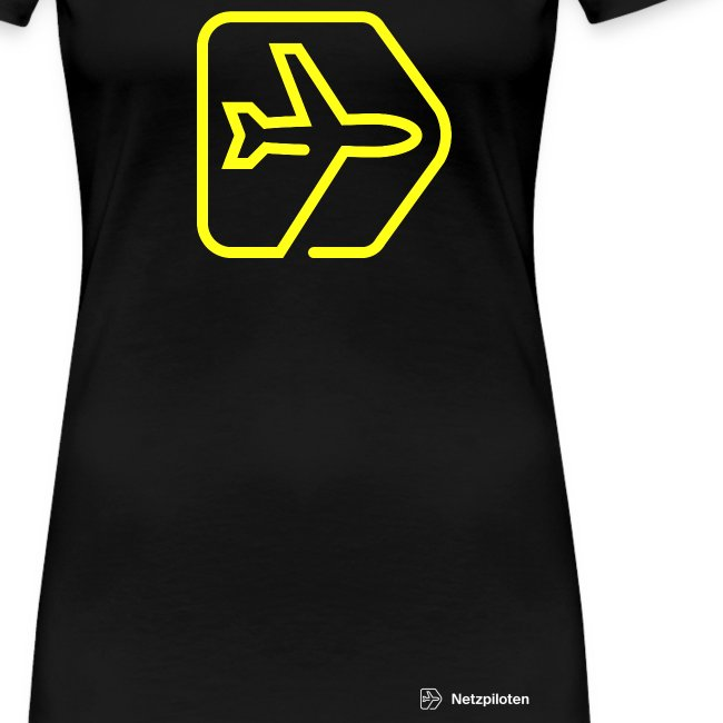 Frauen-Shirt Netzpiloten Classic Neon Line