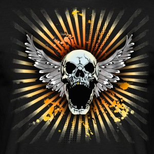 Svart screaming skull T-shirts - T-shirt herr