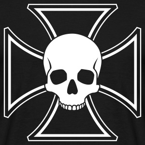 Black Skull Iron Cross Men's T-Shirts - Men's T-Shirt