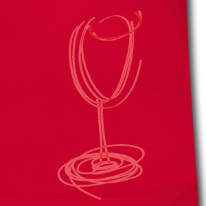 Rood/wit Glass of red wine T-shirts - Mannen contrastshirt