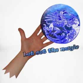 Motiv ~ Langærmet baseball t-shirt, let out the magic