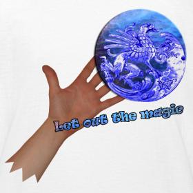Motiv ~ T-shirt børn, let out the magic