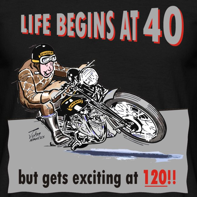 Life begins at 40 biker birthday t-shirt