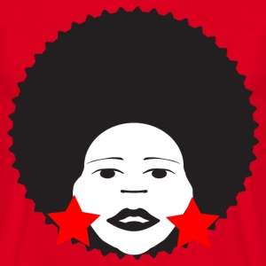Red afro woman red Men's T-Shirts - Men's T-Shirt