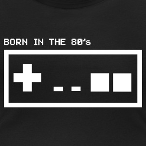 Born in the eighties - retro controller woman - Vrouwen T-shirt met U-hals
