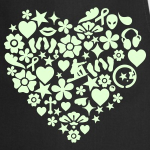 Black Herz des Lebens / heart of life (1c)  Aprons - Cooking Apron