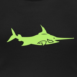 Black Schwertfisch / swordfish (1c) Women's T-Shirts - Women's Scoop Neck T-Shirt