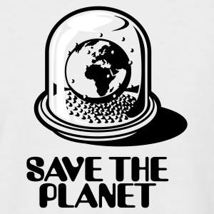 Sand/charcoal Weltkugel - Save the planet_2c T-Shirts - Männer Baseball-T-Shirt