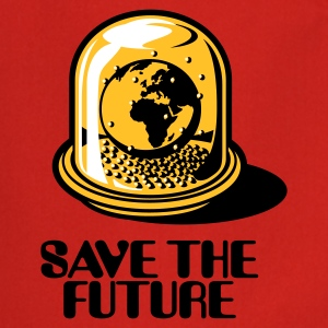 Red Save the future  Aprons - Cooking Apron