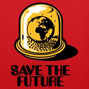 Red Save the future Bags  - Tote Bag