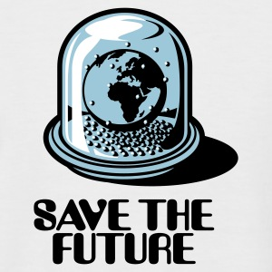 Sand/charcoal Save the future Men's T-Shirts - Men's Baseball T-Shirt