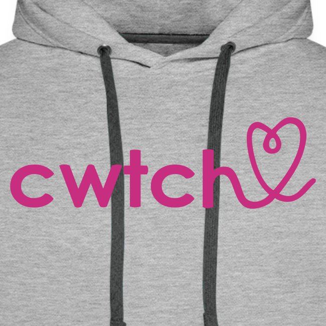 Cozy cwtch heart hoodie for girls or boys.