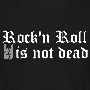 Noir rock and roll is not dead T-shirts - T-shirt Homme