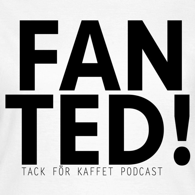 """FAN TED"" (VIT) - t-shirt (dam)"