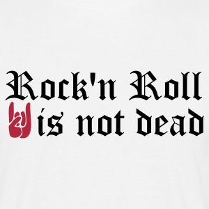 Blanc rock and roll is not dead T-shirts - T-shirt Homme