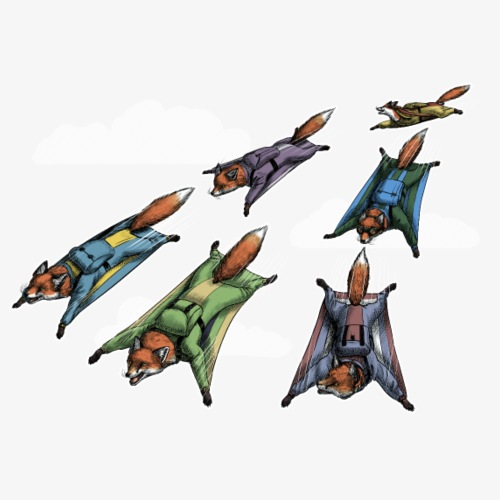 Flying Fox Formation Team Squad dark