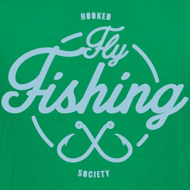 Fishing blue on green