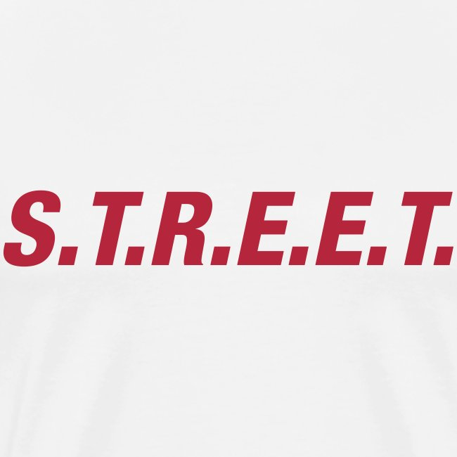 Street t-shirt red on white