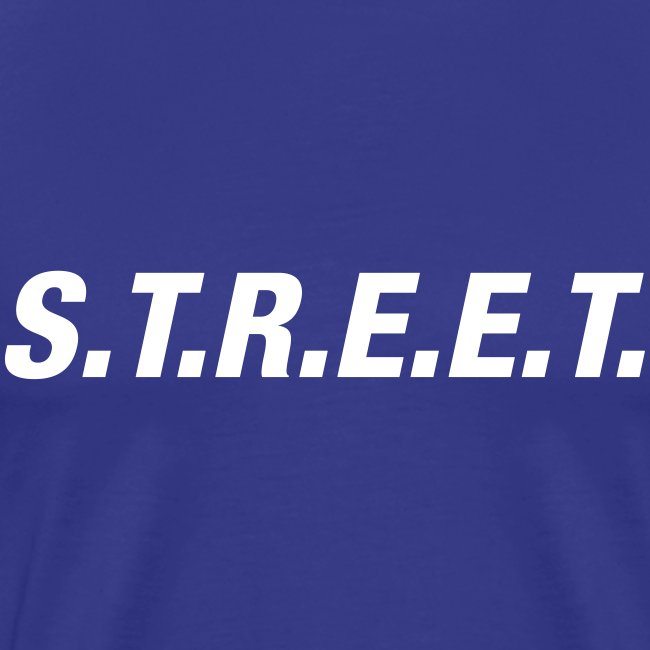 Street t-shirt white on purple