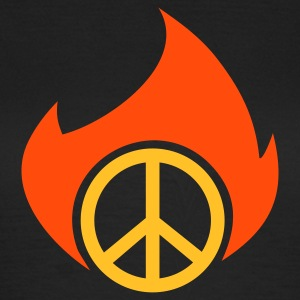 PEACE fire - Frauen T-Shirt