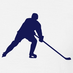 White ice hockey Men's T-Shirts - Men's T-Shirt